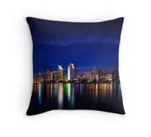 San Diego at Night Throw Pillow