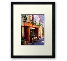 Bistro Bicycle in St Remy-de-Provence Framed Print
