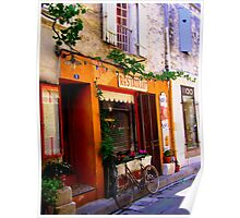 Bistro Bicycle in St Remy-de-Provence Poster