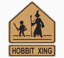 Caution: HOBBIT XING (Lord of the Rings mashup) Kids Clothes