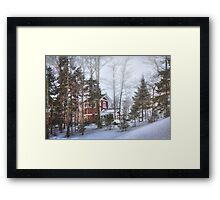 Snow Skiing in Northern Maine Framed Print