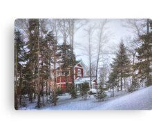 Snow Skiing in Northern Maine Canvas Print
