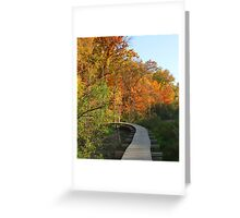 Autumn Walkway - Colorful Turn Greeting Card