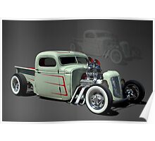 1946 Chopped Chevrolet Rat Rod Pickup Truck Poster