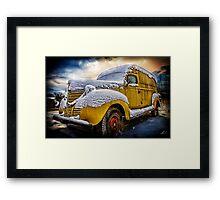 Old Panel Van HDR Framed Print