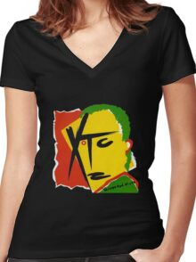 XTC Drums and Wires Women's Fitted V-Neck T-Shirt