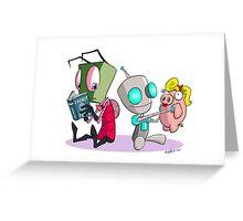 "Invader Zim- ""I, Gir"" Greeting Card"