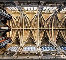 Vaulting of Saint Eustace, Paris. by Forrest Harrison Gerke