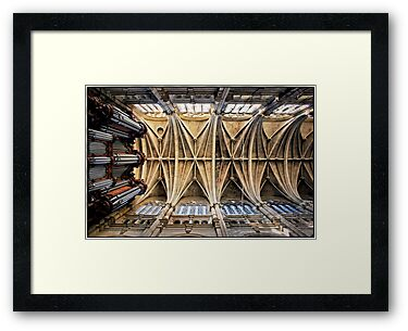 Vaulting of Saint Eustace, Paris. by Forrest Harrison Gerke