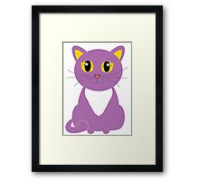 Only One Purple Kitty Framed Print