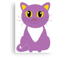 Only One Purple Kitty Canvas Print
