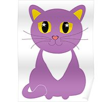 Only One Purple Kitty Poster