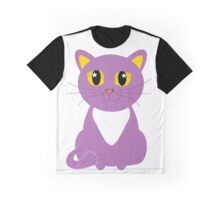 Only One Purple Kitty Graphic T-Shirt