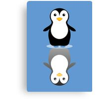 LONELY PENGUIN REFLECTING Canvas Print