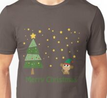 Merry Christmas Monkey Elf Unisex T-Shirt