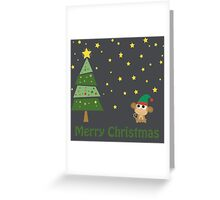 Merry Christmas Monkey Elf Greeting Card