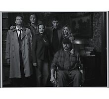 Sam, Bobby, Dean, Cas, Ellen, and Jo picture Photographic Print