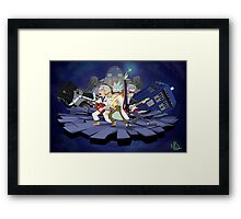 Rick and the Time Lords Framed Print