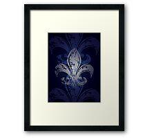 Grunge Fleur De Lis Framed Print