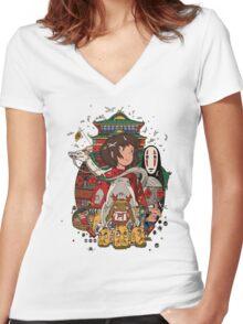 Totoro Ghibli Women's Fitted V-Neck T-Shirt