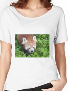 Red Panda close up of face Women's Relaxed Fit T-Shirt