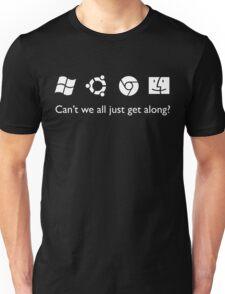 Get Along (B&W) Unisex T-Shirt