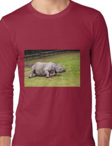 Greater One-horned Rhino Long Sleeve T-Shirt