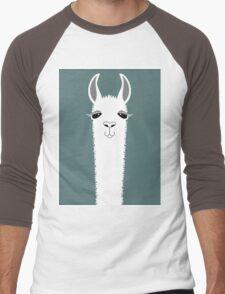 LLAMA PORTRAIT #7 Men's Baseball ¾ T-Shirt