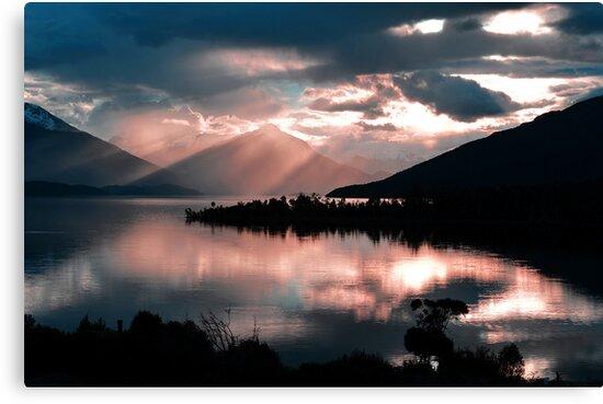 Te Anau Sunset. South Island, New Zealand. (2) by Ralph de Zilva