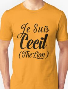 Je Suis Cecil (The Lion) 2 T-Shirt