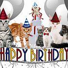 Birthday Cats - Card by Doreen Erhardt
