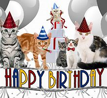 Birthday Cats - Card by Doreen Erhardt