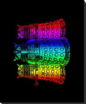Rainbow Daleks by HighDesign