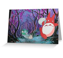 Red Totoro Greeting Card
