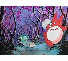 Red Totoro Photographic Print