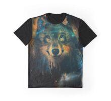 Galaxy Wolf Graphic T-Shirt