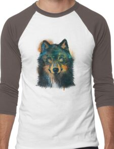 Galaxy Wolf Men's Baseball ¾ T-Shirt