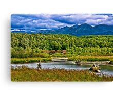 Alaska Potter Marsh Boadwalk Canvas Print