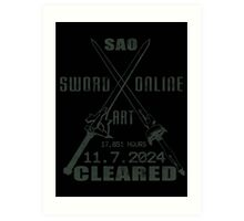 SAO Cleared  Art Print
