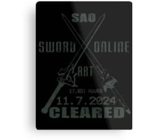 SAO Cleared  Metal Print