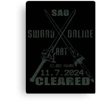 SAO Cleared  Canvas Print
