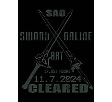 SAO Cleared  Photographic Print