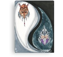 Shredder and Splinter Canvas Print