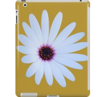 White Daisy with Purple Center iPad Case/Skin