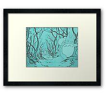Monochrome Totoro Framed Print