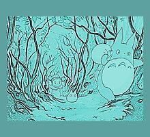 Monochrome Totoro by Hannah Davidson