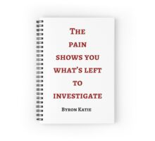 Byron Katie: The  pain  shows you what's left to investigate Spiral Notebook
