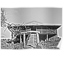 Kinchega Woolshed B&W HDR Poster