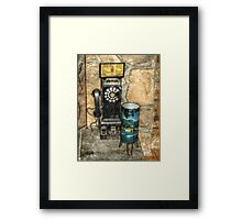 Antique Pay Phone Framed Print