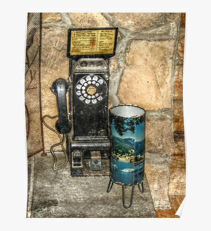 Antique Pay Phone Poster